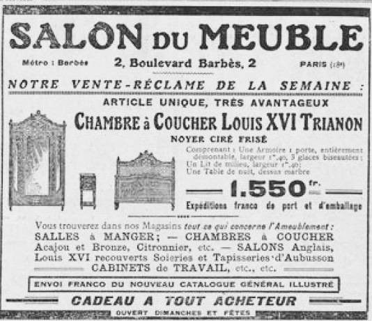 Le Salon du Meuble. Le Journal, 1922