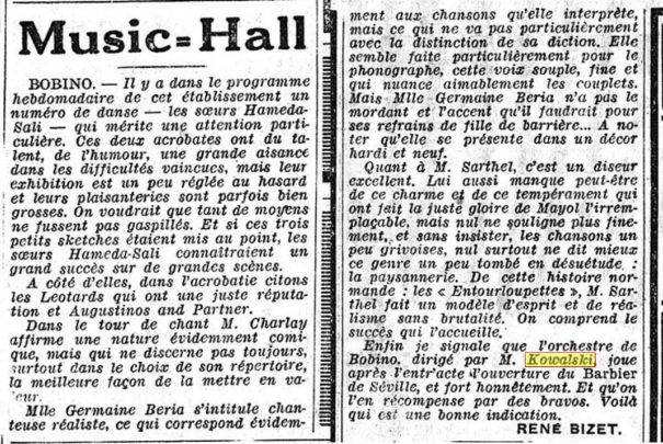 L'Intransigeant, 3 oct. 1931.