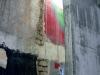 mur de l\'immeuble mitoyen auquel est adossé le Louxor