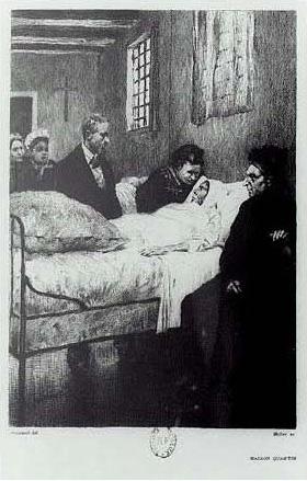 Germinie Lacerteux sur son lit de mort