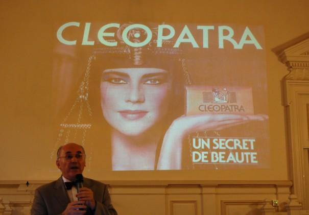 Jean-Marcel Humbert évoque la figure de Cléopâtre dans la publicité