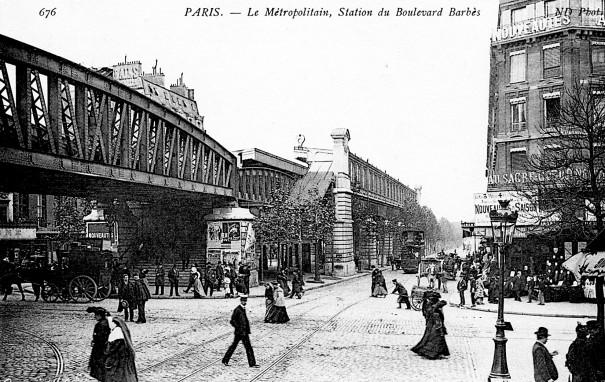 L'immeuble démoli en 1921 pour construire le Louxor accueillait le grand magasin de nouveautés « Au sacré Cœur ».