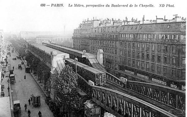 Boulevard de la Chapelle : un autre point de vue sur l'immeuble démoli pour faire place au Louxor