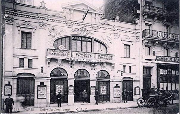 La Gaîté-Rochechouart sera modifiée et agrandie après un incendie en 1923 puis deviendra un cinéma en 1933.