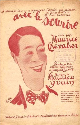 """1921 : Maurice Chevalier crée la chanson """"Avec le sourire"""""""