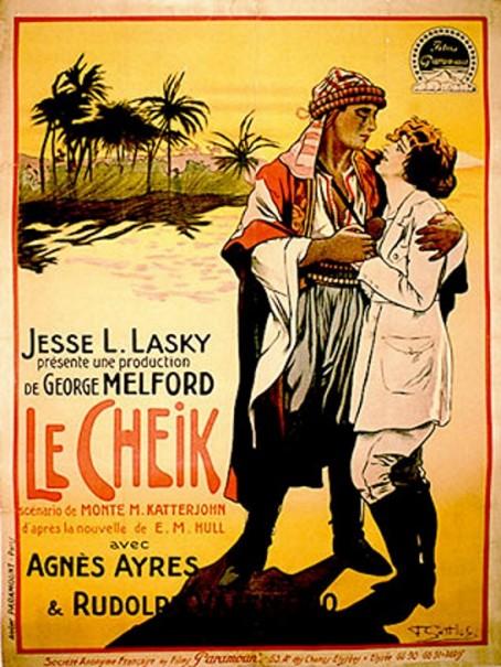 1921 Le Cheik de George Melford avec Rudolph Valentino et Agnes Ayres