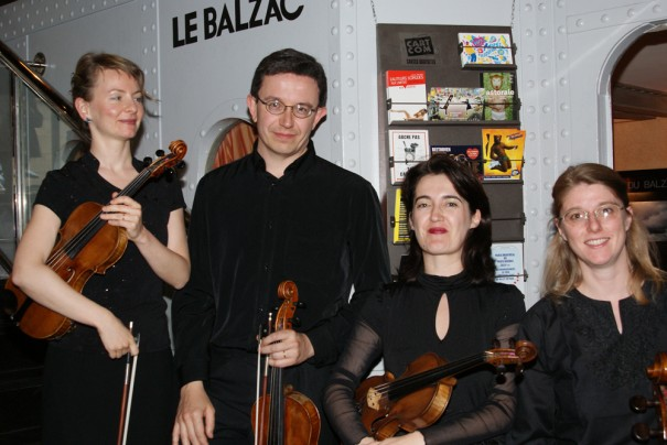 """Le Quatuor Prima Vista accompagnait """"Nosferatu le Vampire"""" de Murnau"""