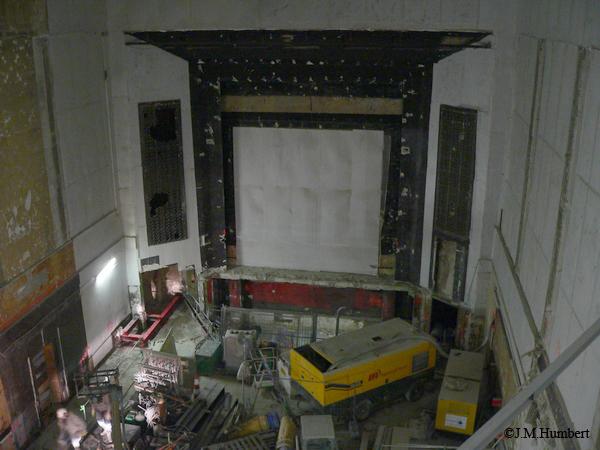 Vue générale depuis l'emplacement du deuxième balcon