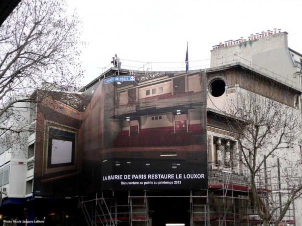 24 février 2011 - Installation de la bâche