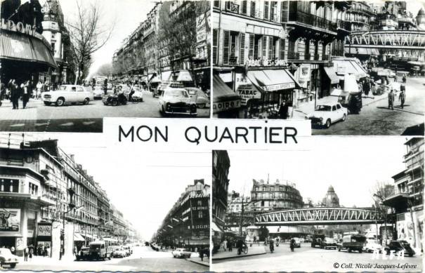 Le carrefour en 1958