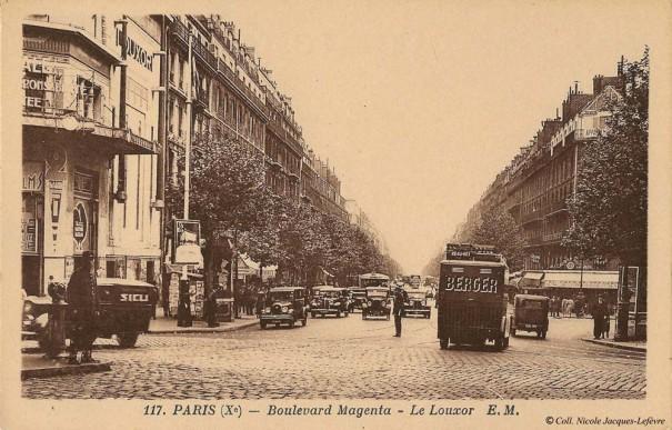 Le carrefour Barbès et le Louxor en 1935