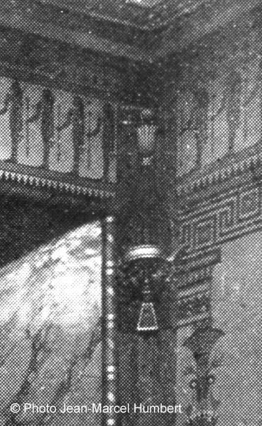 La seule tête du décor intérieur du Louxor connue jusqu'à présent.