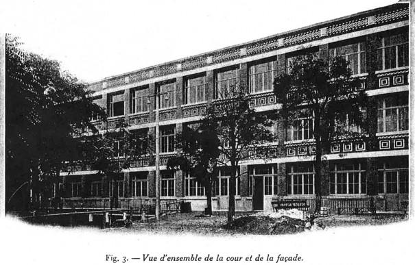 """L'école Bréguet (Photo """"La Technique des travaux"""", année 1931)."""