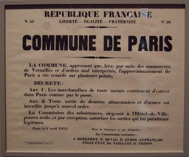 """Exposition """"1871, La Commune de paris : une histoire moderne"""""""