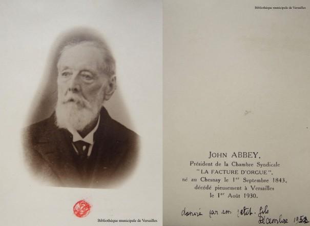 John Abbey fils (1843