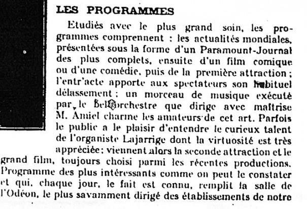 """Extrait de l'article """"L'Odéon de Marseille"""", La cinématographie française"""
