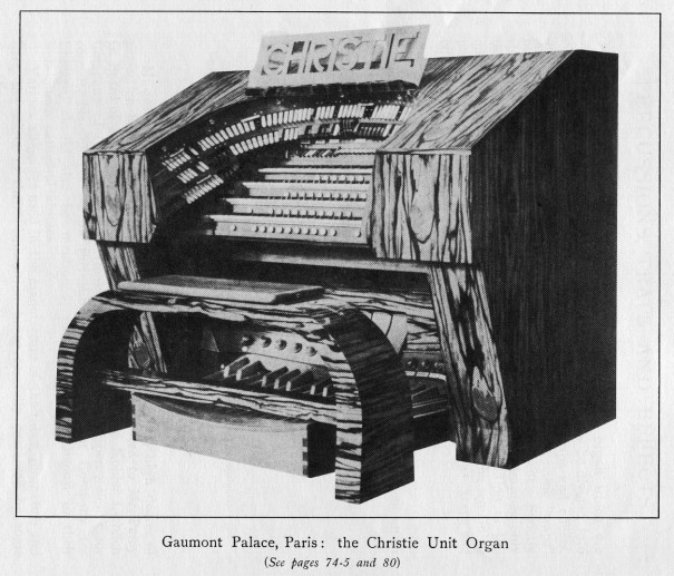 Orgue du Gaumon-Palace (catalogue de catalogue de la manufacture Hill Normand and Beard