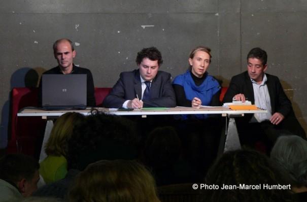 Réunion du 21 novembre. De gauche à droite, Philippe Pumain, Eric Lejoindre, Carinne Rolland et Michel Gomez