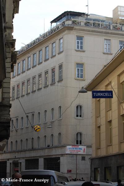 2012 : le Baltazzi Han, devenu le siège de l'Akbank