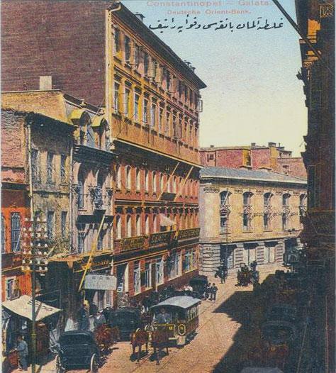 Le Baltazzi Han, devenu le siège de la Deutsche Orient Bank, en 1900