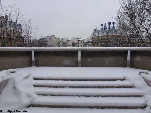 Depuis le terrasse du futur café-club - 21 janvier 2013