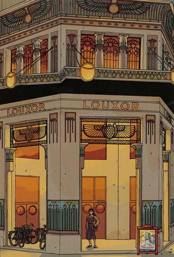 Le Louxor dessiné par Claude Plumail, album Vivre libre ou mourir ! page 12.