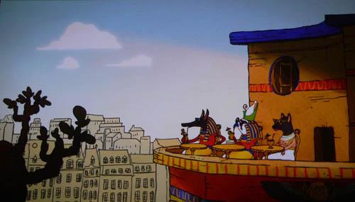 Les charmes de la terrasse du bar du Louxor, vu par JUL (dessin animé projeté en début de séance)