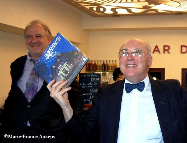 L'éditeur Maurice Culot et Jean-Marcel Humbert au Louxor, 8 juin 2013.