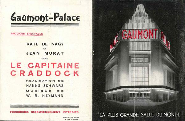 Couverture et dos du programme du 20 novembre 1931.