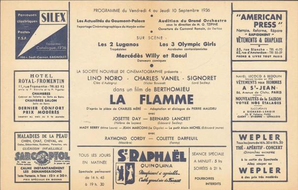 Gaumont Palace 4-10 septembre 1936 SITE