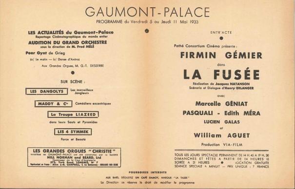 Gaumont-Palace mai 1933