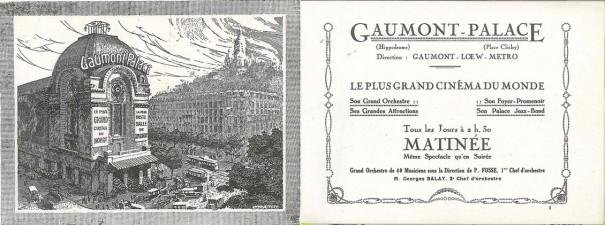 Gaumont Palace, saison 1926-1927