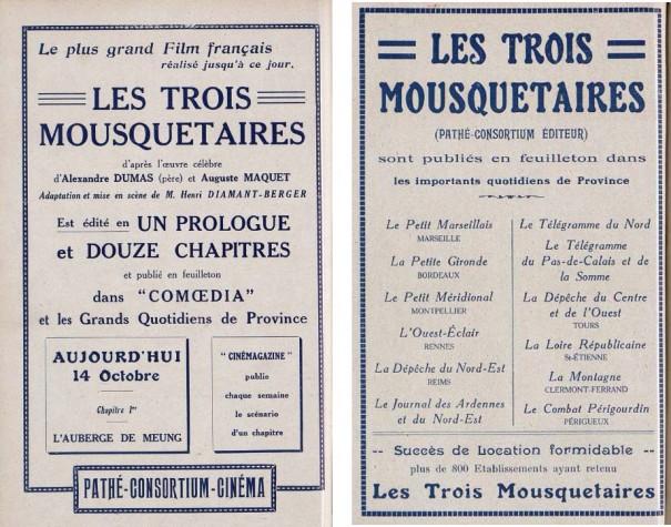 Cinémagazine, 14 octobre 1921 et 4 novembre 1921