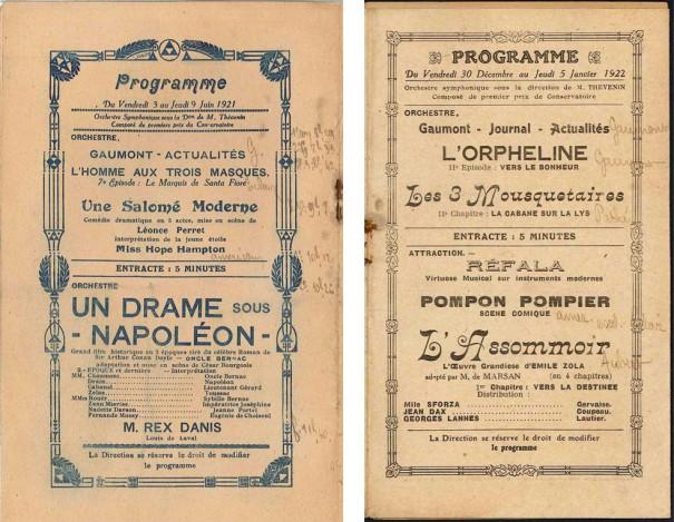 Barbès-Palace, 3-9 juin 1921 et 30 décembre 1921-5 janvier 1922