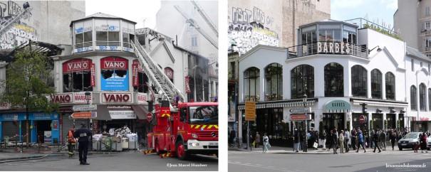 6 juin 2011 : incendie de Vano - 9 mai 2015 : Brasserie Barbès