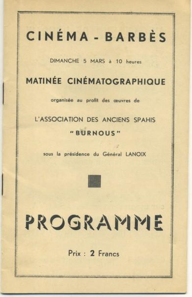 Programme du 5 mars 1939