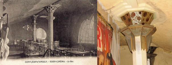 Le bar dans les années 30- détail d'un chapiteau