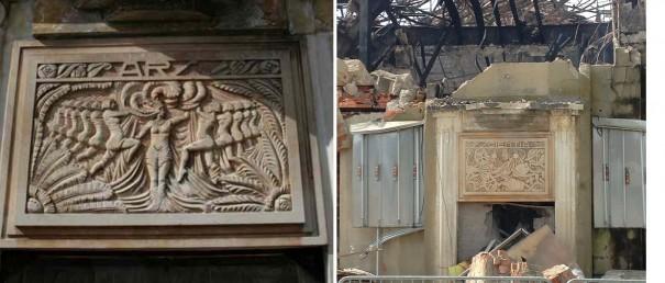 Les bas-reliefs du sculpteur Henri Courdavault