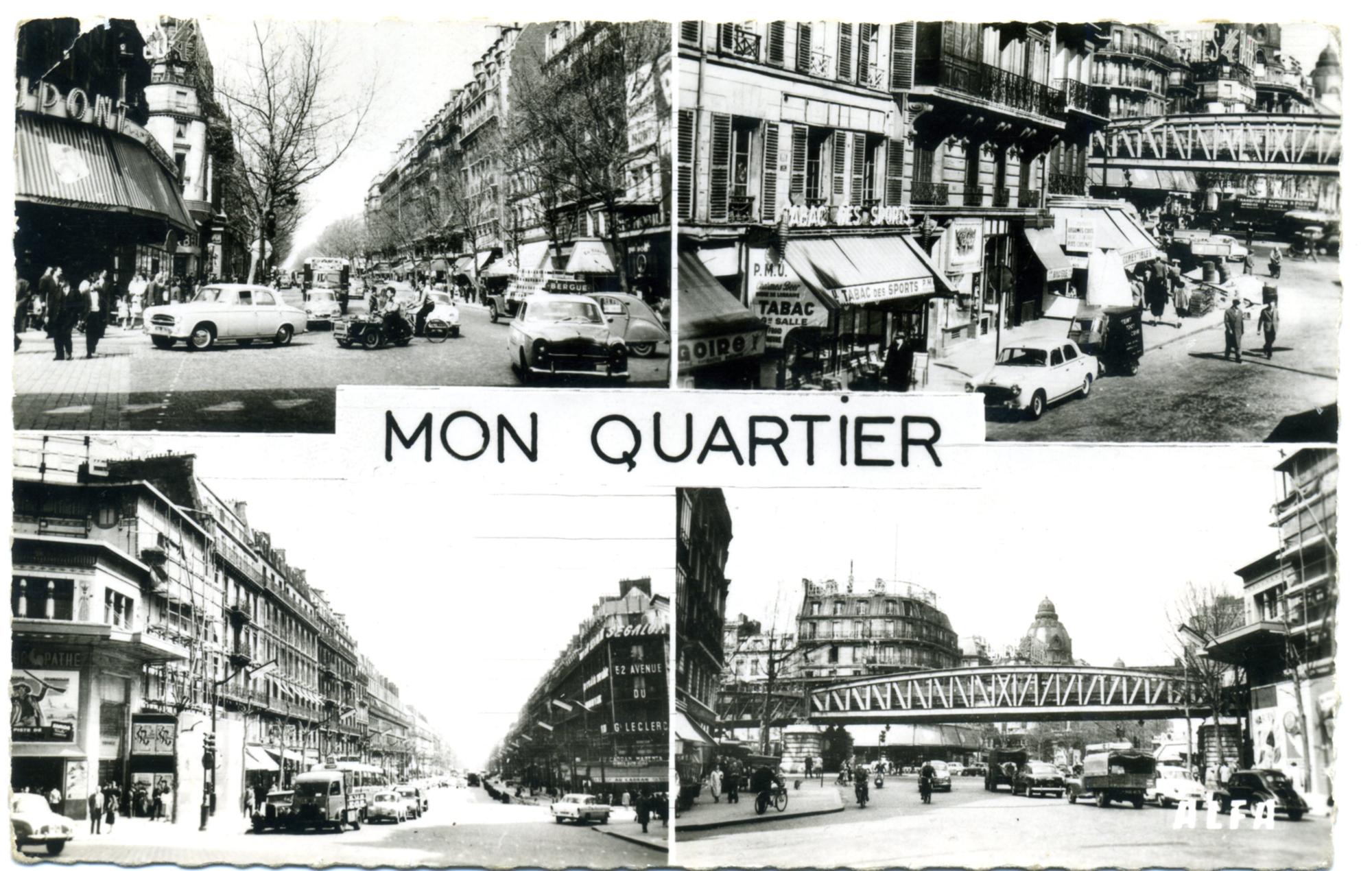 1958 : en bas à gauche : ravalement du Louxor
