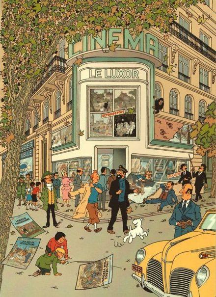 Dessin d'Harry Edwood, d'après Hergé (DR)