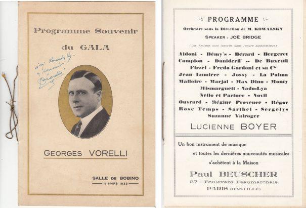 Hommage àGeorges Vorelli (Bobino 1933)