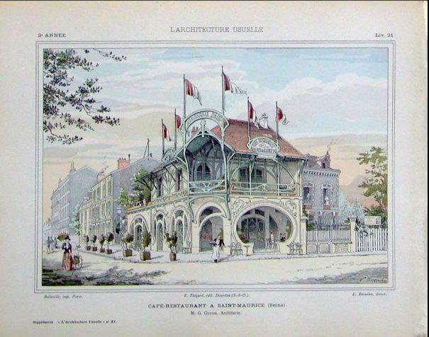 Brasserie Paul, L'architecture usuelle, n° 21, 1905