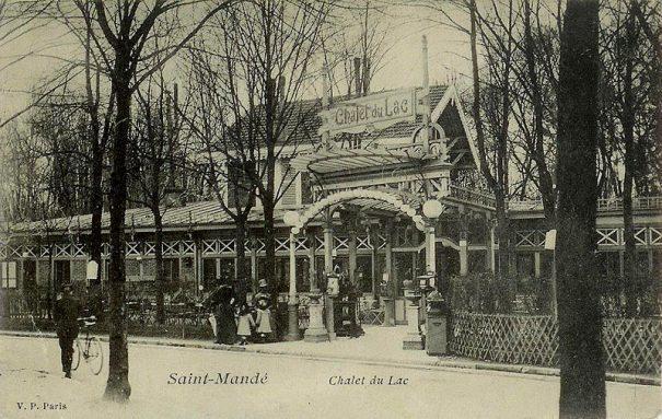 Carte postale ancienne : chalet du Lac de Saint-Mandé